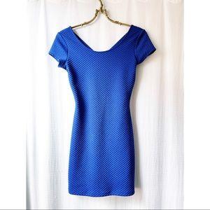 Textured royal blue H&M mini dress
